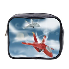 America Jet fighter Air Force Mini Travel Toiletry Bag (Two Sides)