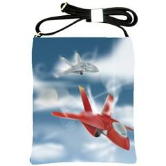 America Jet Fighter Air Force Shoulder Sling Bag