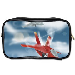 America Jet Fighter Air Force Travel Toiletry Bag (one Side)