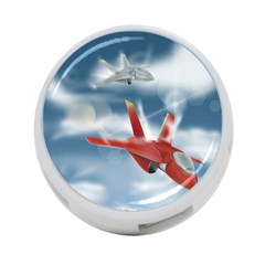 America Jet Fighter Air Force 4 Port Usb Hub (two Sides)