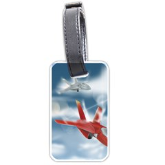 America Jet Fighter Air Force Luggage Tag (two Sides)