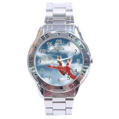 America Jet fighter Air Force Stainless Steel Watch