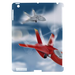 America Jet fighter Air Force Apple iPad 3/4 Hardshell Case (Compatible with Smart Cover)