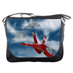 America Jet fighter Air Force Messenger Bag