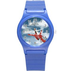 America Jet fighter Air Force Plastic Sport Watch (Small)