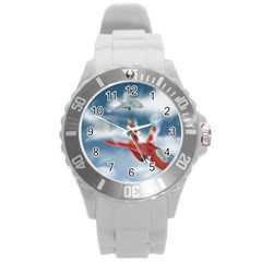 America Jet fighter Air Force Plastic Sport Watch (Large)