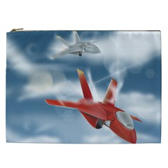 America Jet fighter Air Force Cosmetic Bag (XXL)