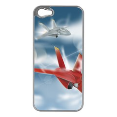 America Jet fighter Air Force Apple iPhone 5 Case (Silver)
