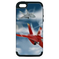 America Jet Fighter Air Force Apple Iphone 5 Hardshell Case (pc+silicone)