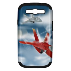 America Jet fighter Air Force Samsung Galaxy S III Hardshell Case (PC+Silicone)
