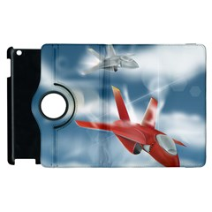 America Jet fighter Air Force Apple iPad 3/4 Flip 360 Case
