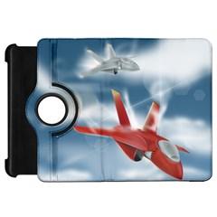 America Jet fighter Air Force Kindle Fire HD 7  (1st Gen) Flip 360 Case