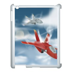 America Jet fighter Air Force Apple iPad 3/4 Case (White)
