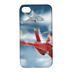 America Jet fighter Air Force Apple iPhone 4/4S Hardshell Case with Stand