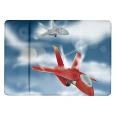 America Jet Fighter Air Force Samsung Galaxy Tab 10 1  P7500 Flip Case