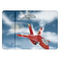 America Jet fighter Air Force Samsung Galaxy Tab 8.9  P7300 Flip Case