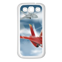 America Jet fighter Air Force Samsung Galaxy S3 Back Case (White)