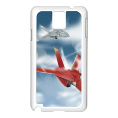 America Jet fighter Air Force Samsung Galaxy Note 3 N9005 Case (White)