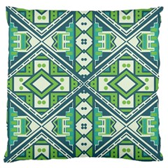 Green pattern Large Cushion Case (Single Sided)
