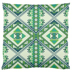 Green Pattern 2 Large Cushion Case (two Sided)