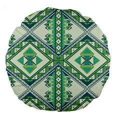 Green Pattern 2 18  Premium Round Cushion
