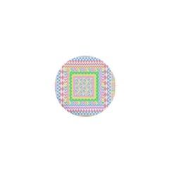 Layered Pastels 1  Mini Button