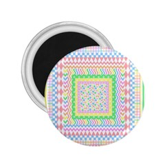 Layered Pastels 2 25  Button Magnet