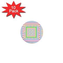 Layered Pastels 1  Mini Button (10 pack)