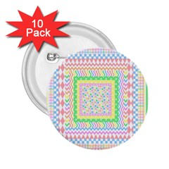 Layered Pastels 2.25  Button (10 pack)