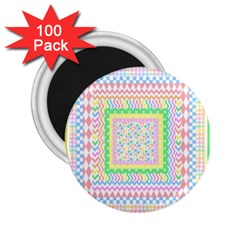 Layered Pastels 2 25  Button Magnet (100 Pack)