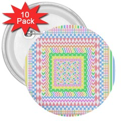 Layered Pastels 3  Button (10 pack)