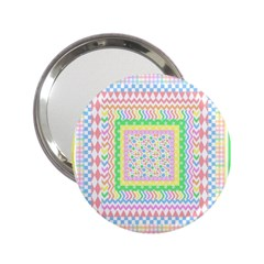 Layered Pastels Handbag Mirror (2.25 )