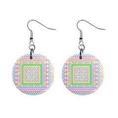 Layered Pastels Mini Button Earrings