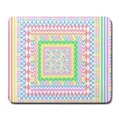 Layered Pastels Large Mouse Pad (Rectangle)