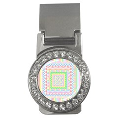 Layered Pastels Money Clip (CZ)