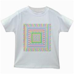 Layered Pastels Kids T-shirt (White)