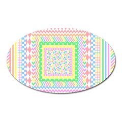 Layered Pastels Magnet (Oval)