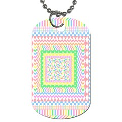 Layered Pastels Dog Tag (Two-sided)