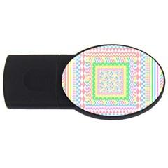 Layered Pastels 2GB USB Flash Drive (Oval)