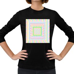 Layered Pastels Women s Long Sleeve T-shirt (Dark Colored)