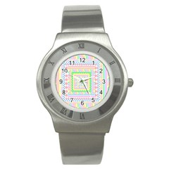 Layered Pastels Stainless Steel Watch (Slim)