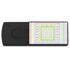 Layered Pastels 4GB USB Flash Drive (Rectangle)