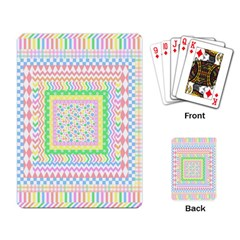 Layered Pastels Playing Cards Single Design