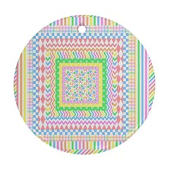 Layered Pastels Round Ornament (two Sides)