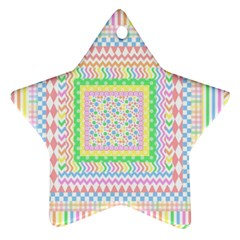 Layered Pastels Star Ornament (Two Sides)
