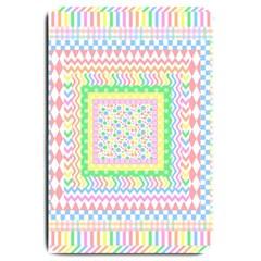 Layered Pastels Large Door Mat