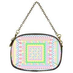 Layered Pastels Chain Purse (One Side)