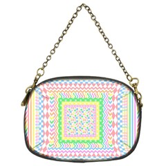 Layered Pastels Chain Purse (Two Sided)