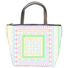 Layered Pastels Bucket Handbag