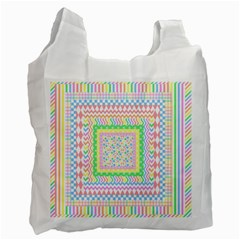 Layered Pastels Recycle Bag (Two Sides)